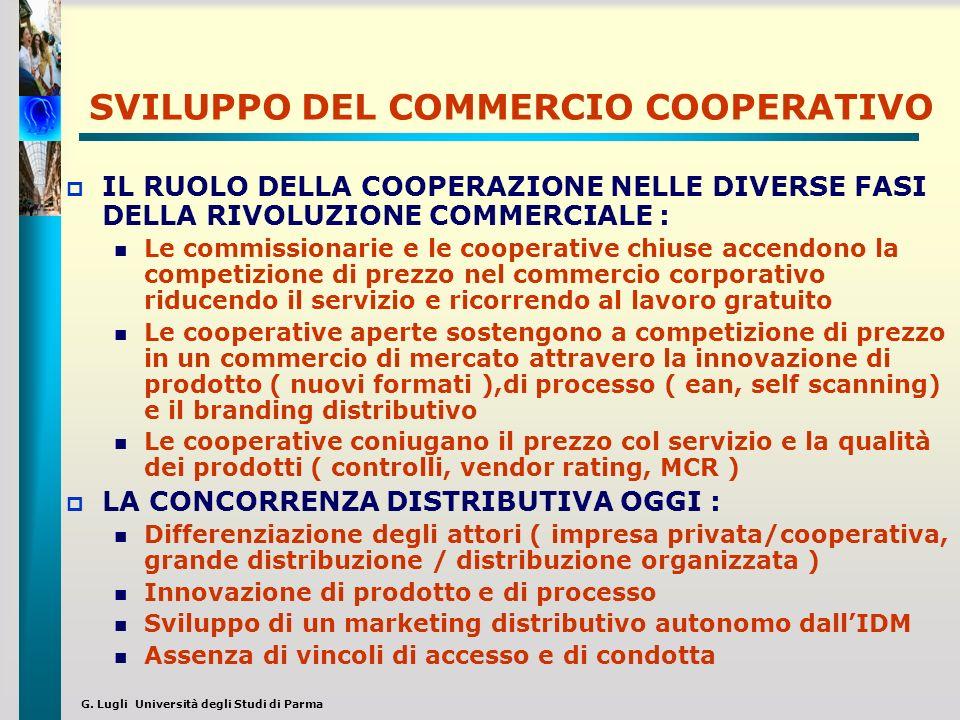 G. Lugli Università degli Studi di Parma SVILUPPO DEL COMMERCIO COOPERATIVO IL RUOLO DELLA COOPERAZIONE NELLE DIVERSE FASI DELLA RIVOLUZIONE COMMERCIA