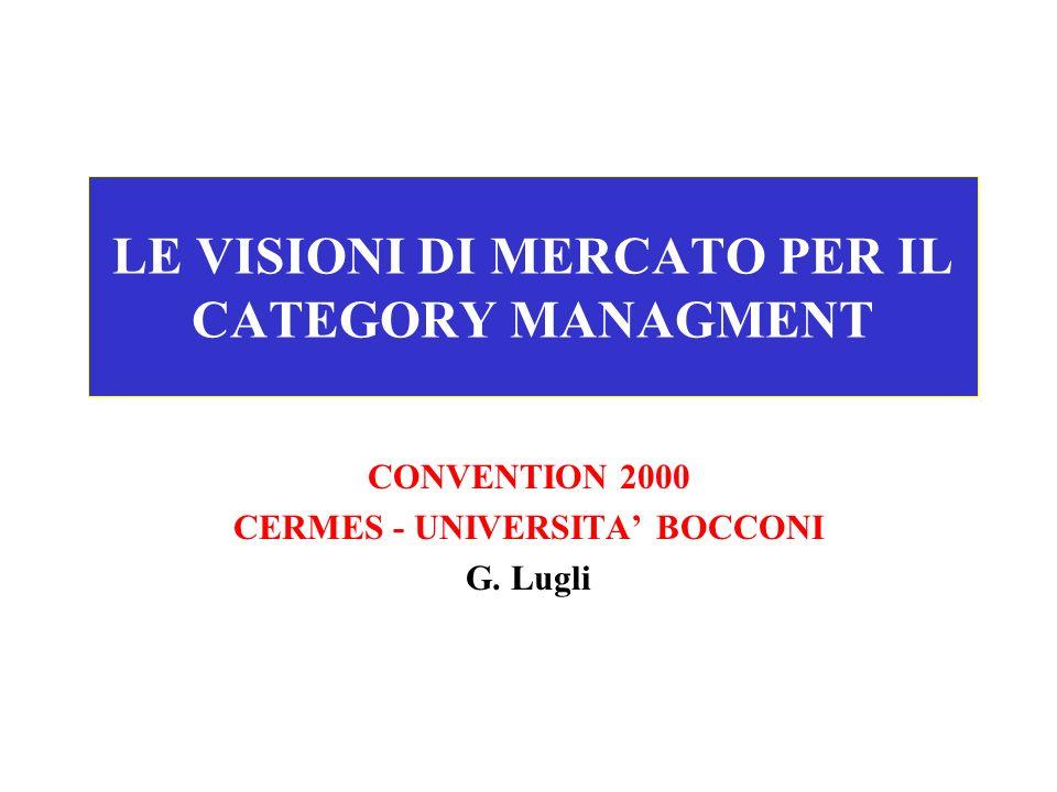 LE VISIONI DI MERCATO PER IL CATEGORY MANAGMENT CONVENTION 2000 CERMES - UNIVERSITA BOCCONI G. Lugli