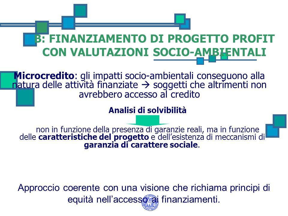 Microcredito: gli impatti socio-ambientali conseguono alla natura delle attività finanziate soggetti che altrimenti non avrebbero accesso al credito A