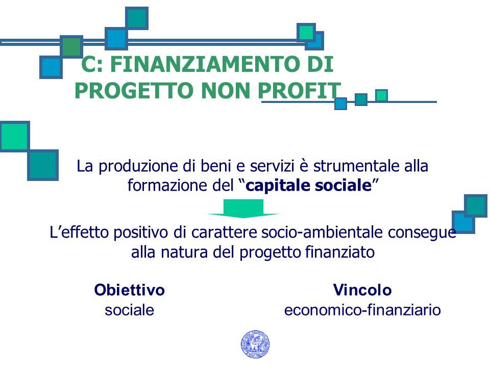 La produzione di beni e servizi è strumentale alla formazione del capitale sociale Leffetto positivo di carattere socio-ambientale consegue alla natur