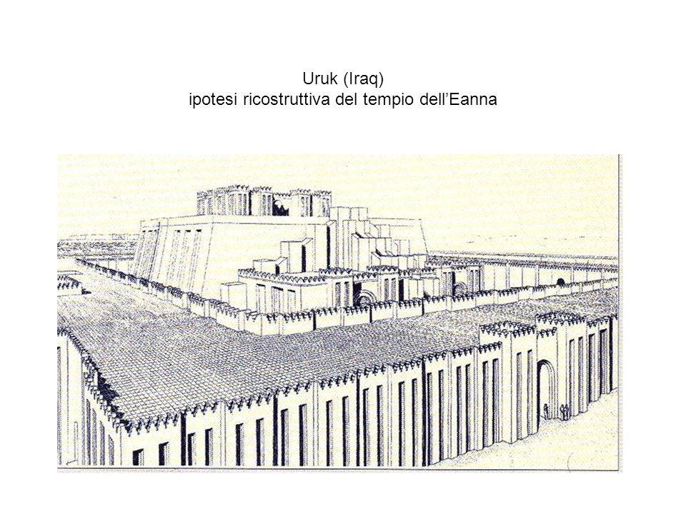Uruk (Iraq) ipotesi ricostruttiva del tempio dellEanna