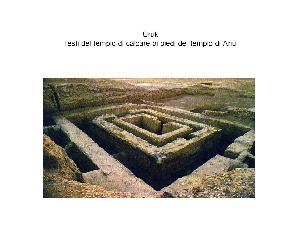 Uruk resti del tempio di calcare ai piedi del tempio di Anu