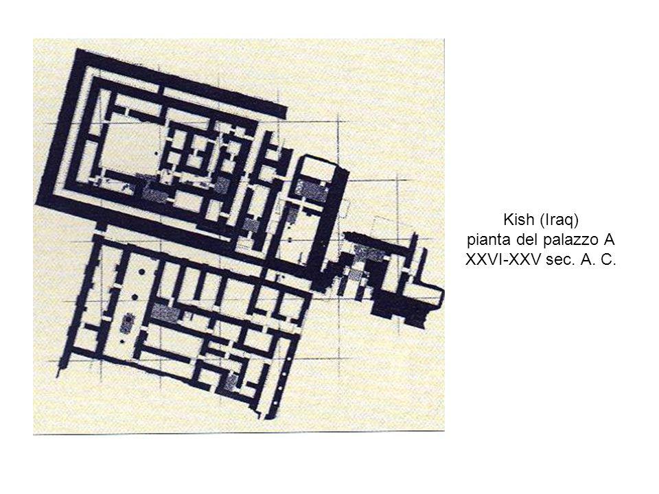 Kish (Iraq) pianta del palazzo A XXVI-XXV sec. A. C.