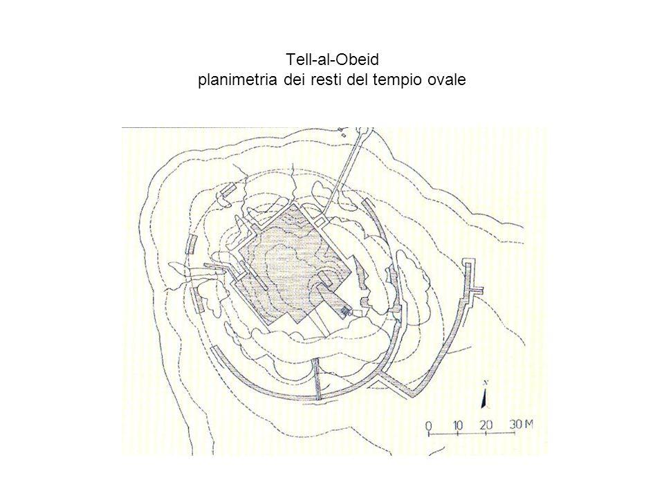 Tell-al-Obeid planimetria dei resti del tempio ovale