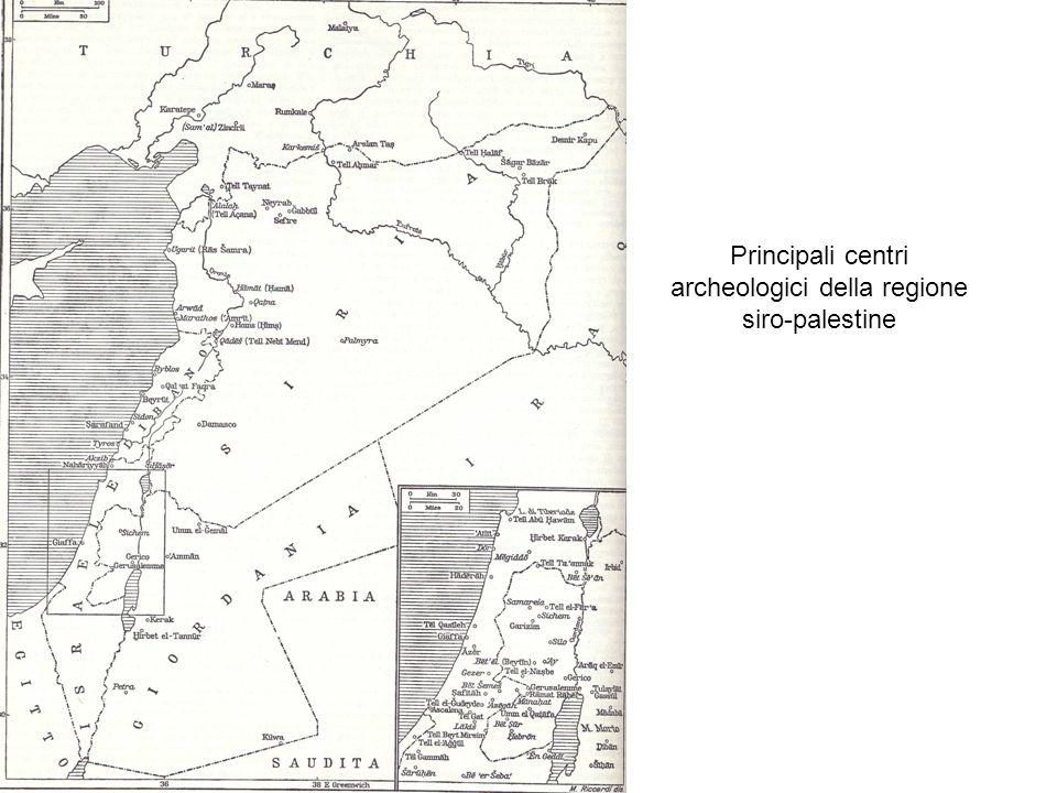 Principali centri archeologici della regione siro-palestine