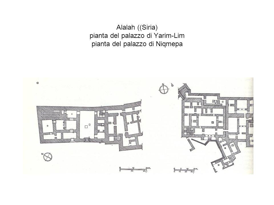 Alalah ((Siria) pianta del palazzo di Yarim-Lim pianta del palazzo di Niqmepa