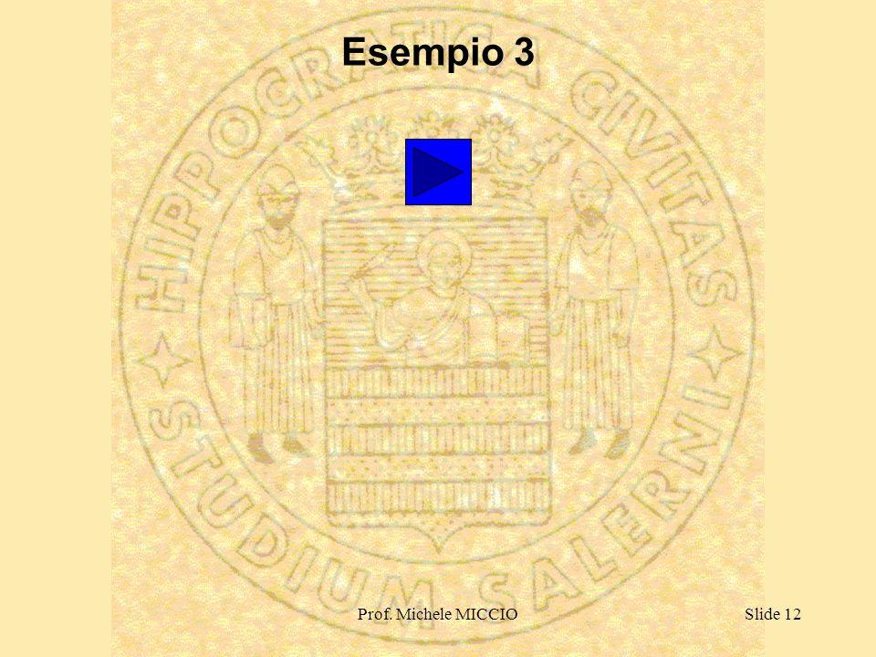 Prof. Michele MICCIOSlide 12 Esempio 3