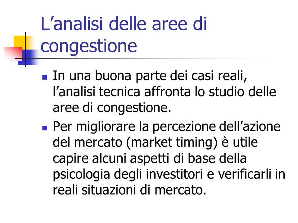 Lanalisi delle aree di congestione In una buona parte dei casi reali, lanalisi tecnica affronta lo studio delle aree di congestione.