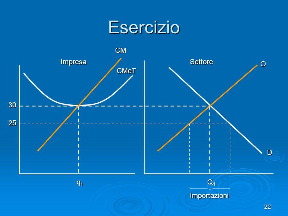 22 CMeT CM Impresa Esercizio D O Q1Q1Q1Q1 Settore 30 q1q1q1q1 25 Importazioni