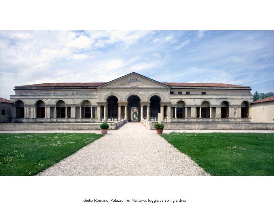 Giulio Romano, Palazzo Te, Mantova, loggia verso il giardino