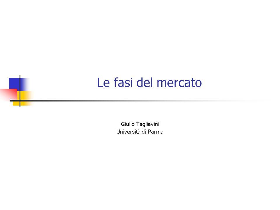 Le fasi del mercato Giulio Tagliavini Università di Parma