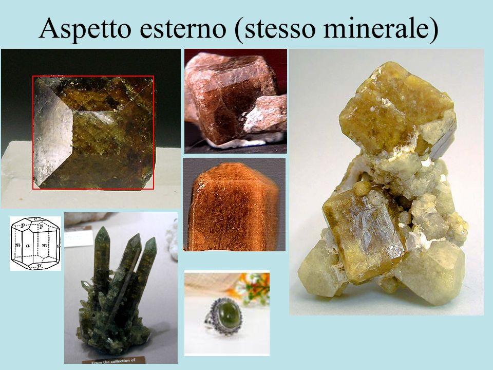 Aspetto esterno (stesso minerale)