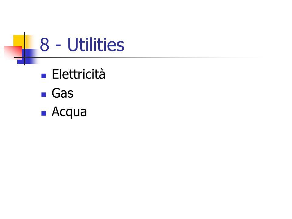 8 - Utilities Elettricità Gas Acqua