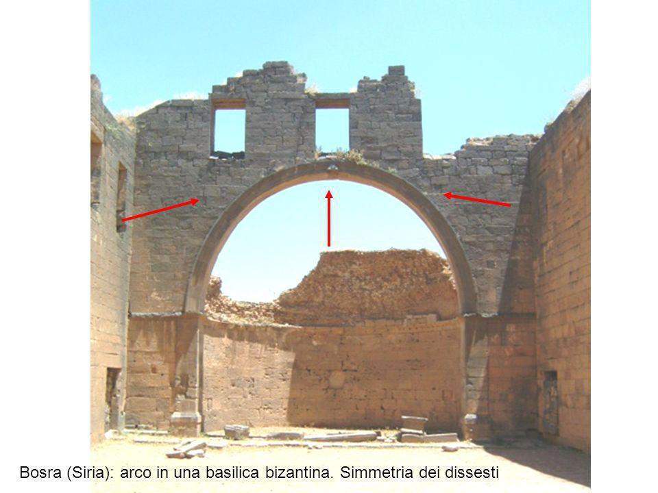 Bosra (Siria): arco in una basilica bizantina. Simmetria dei dissesti