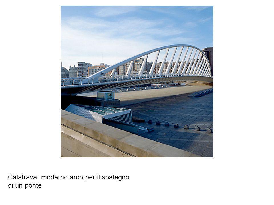 Calatrava: moderno arco per il sostegno di un ponte