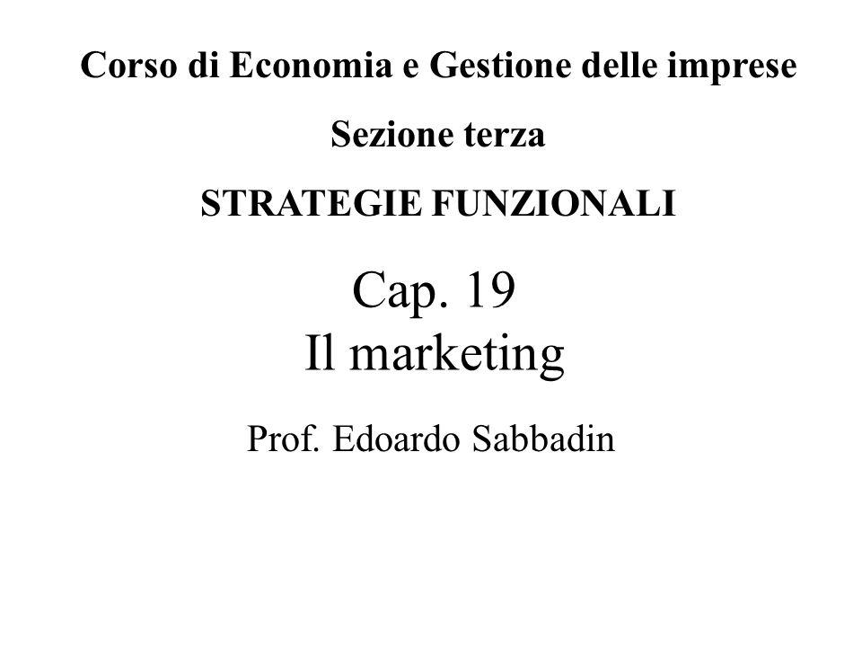 Cap.19 Il marketing Prof.