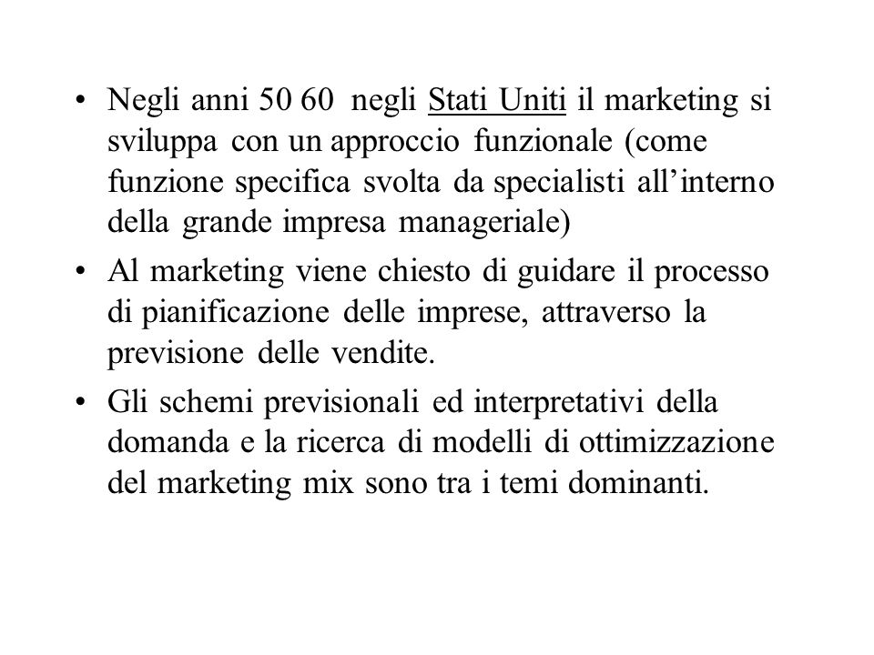 Il marketing strategico Macro e micro segmentazione Posizionamento E strategie di marketing: Strategie indifferenziate Strategie focalizzate Strategie specifiche