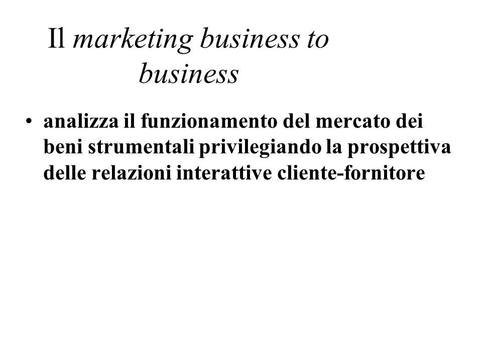 Il marketing business to business analizza il funzionamento del mercato dei beni strumentali privilegiando la prospettiva delle relazioni interattive cliente-fornitore