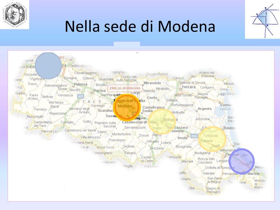 Nella sede di Modena