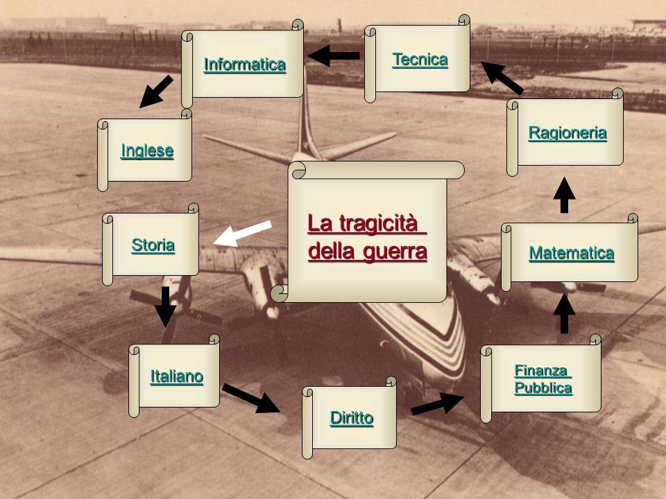 La tragicità della guerra Italiano Storia Finanza Pubblica Diritto Ragioneria Inglese Matematica Tecnica Informatica