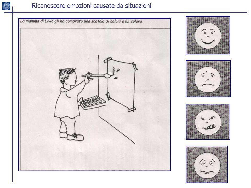 Riconoscere emozioni causate da situazioni