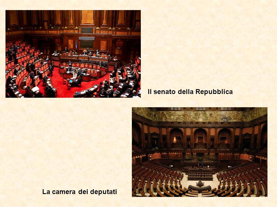 Il senato della Repubblica La camera dei deputati