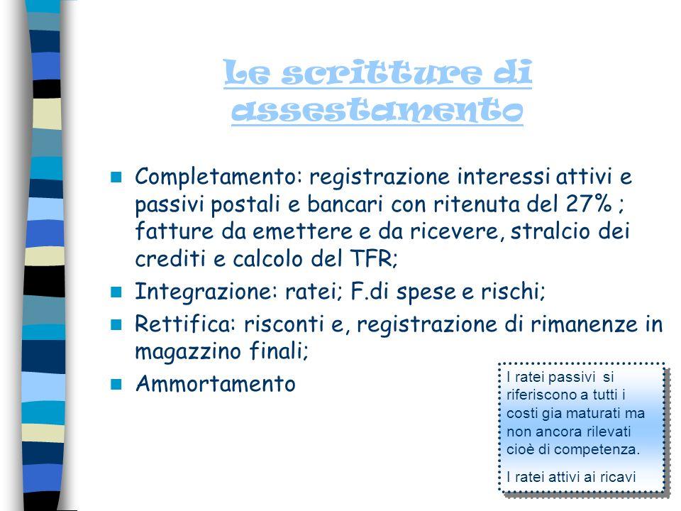 Economia Aziendale IV A Chiusura generale dei conti e riapertura dei conti.