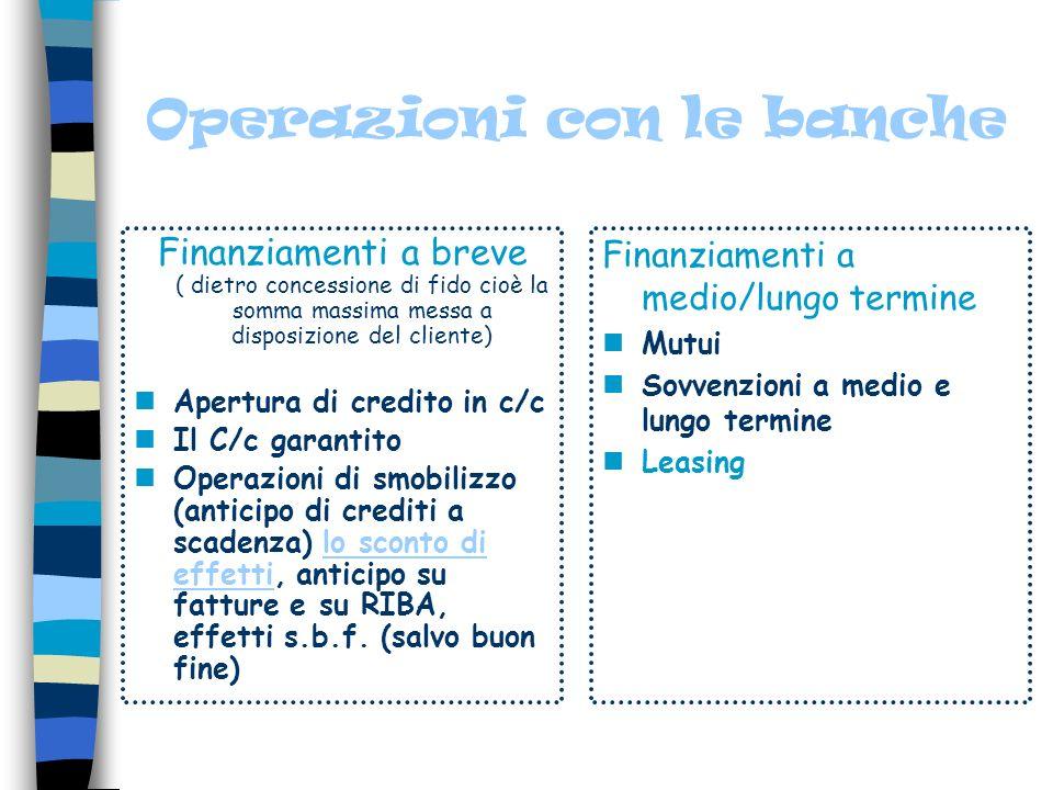 Lattività bancaria La Banca svolge la sua attività attraverso operazioni di raccolta e impiego di fondi lucrando dalla differenza tra i tassi a credit