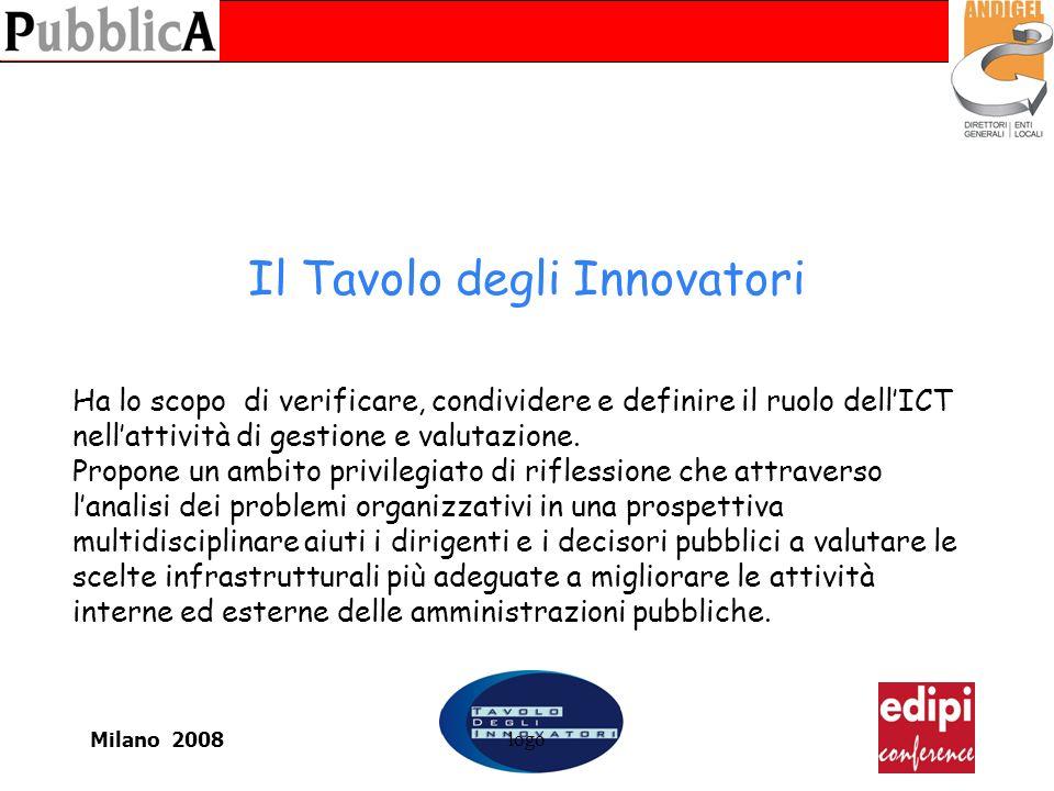 Milano 2008logo Il Tavolo degli Innovatori Ha lo scopo di verificare, condividere e definire il ruolo dellICT nellattività di gestione e valutazione.