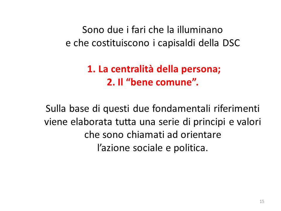 15 Sono due i fari che la illuminano e che costituiscono i capisaldi della DSC 1.