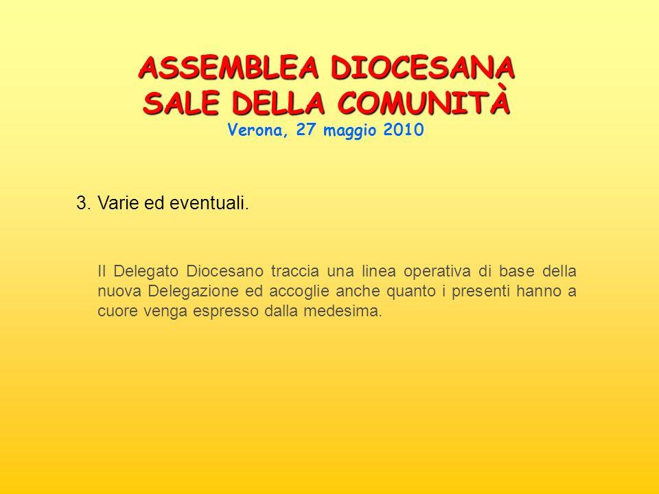 3. Varie ed eventuali. Il Delegato Diocesano traccia una linea operativa di base della nuova Delegazione ed accoglie anche quanto i presenti hanno a c