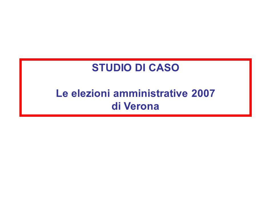 STUDIO DI CASO Le elezioni amministrative 2007 di Verona