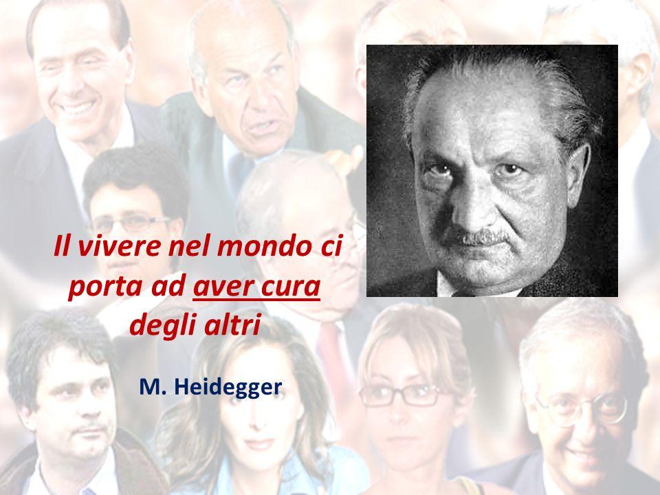 Il vivere nel mondo ci porta ad aver cura degli altri M. Heidegger