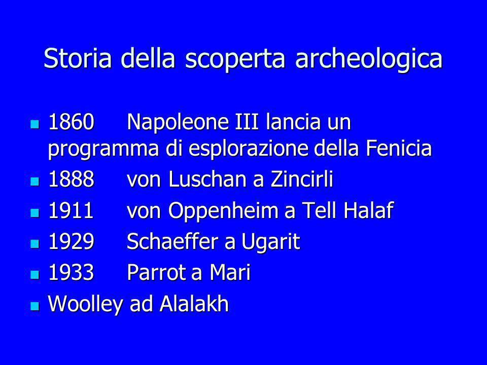 Storia della scoperta archeologica 1860Napoleone III lancia un programma di esplorazione della Fenicia 1860Napoleone III lancia un programma di esplor