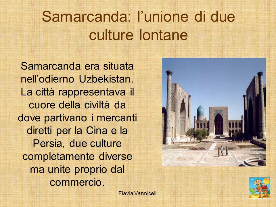 Samarcanda: lunione di due culture lontane Samarcanda era situata nellodierno Uzbekistan. La città rappresentava il cuore della civiltà da dove partiv