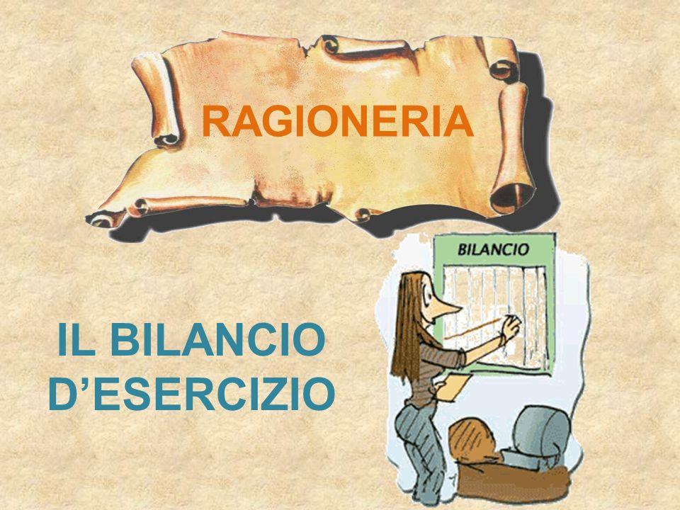 IL BILANCIO DESERCIZIO Stato Patrimoniale (art.2424) Conto Economico (art.