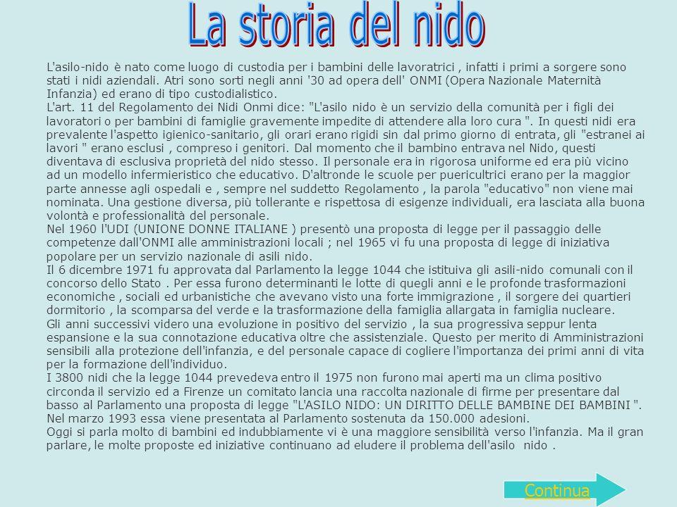 In Italia 3.100 asili nido, dovevano essere 3.800 (nel 1976) ROMA - Una realt à complessa, quella degli asili nido italiani, una realt à disomogenea e ancora molto lontana dal centrare gli obiettivi europei.