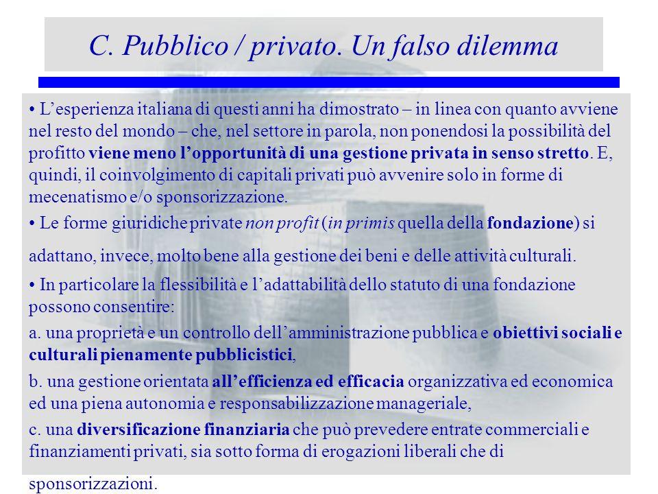 C. Pubblico / privato. Un falso dilemma Lesperienza italiana di questi anni ha dimostrato – in linea con quanto avviene nel resto del mondo – che, nel