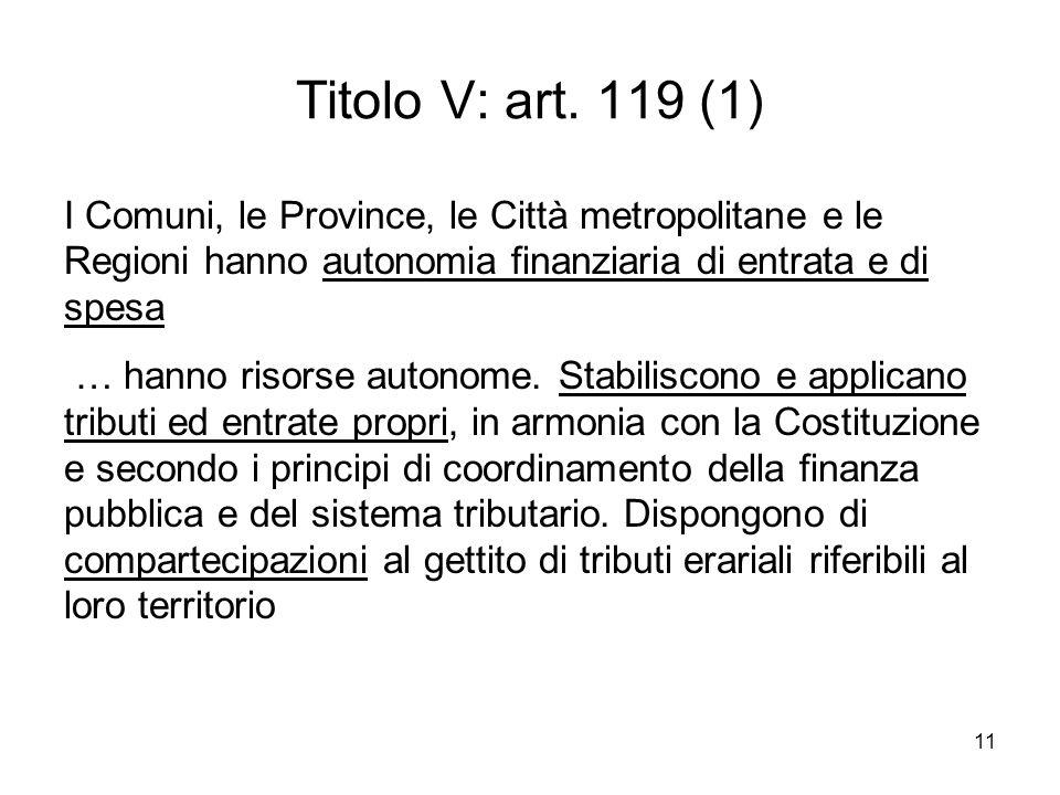 11 Titolo V: art.