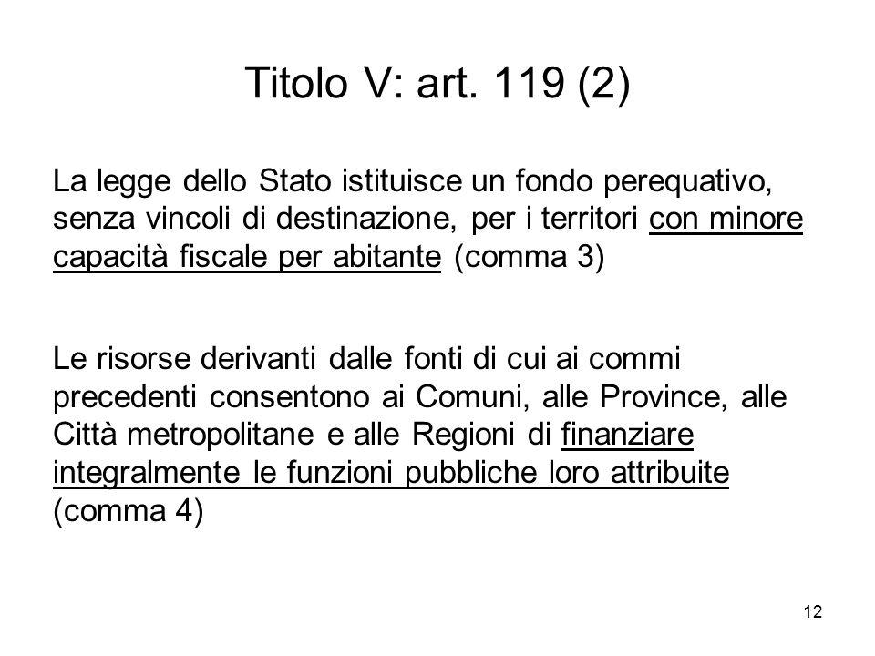 12 Titolo V: art.