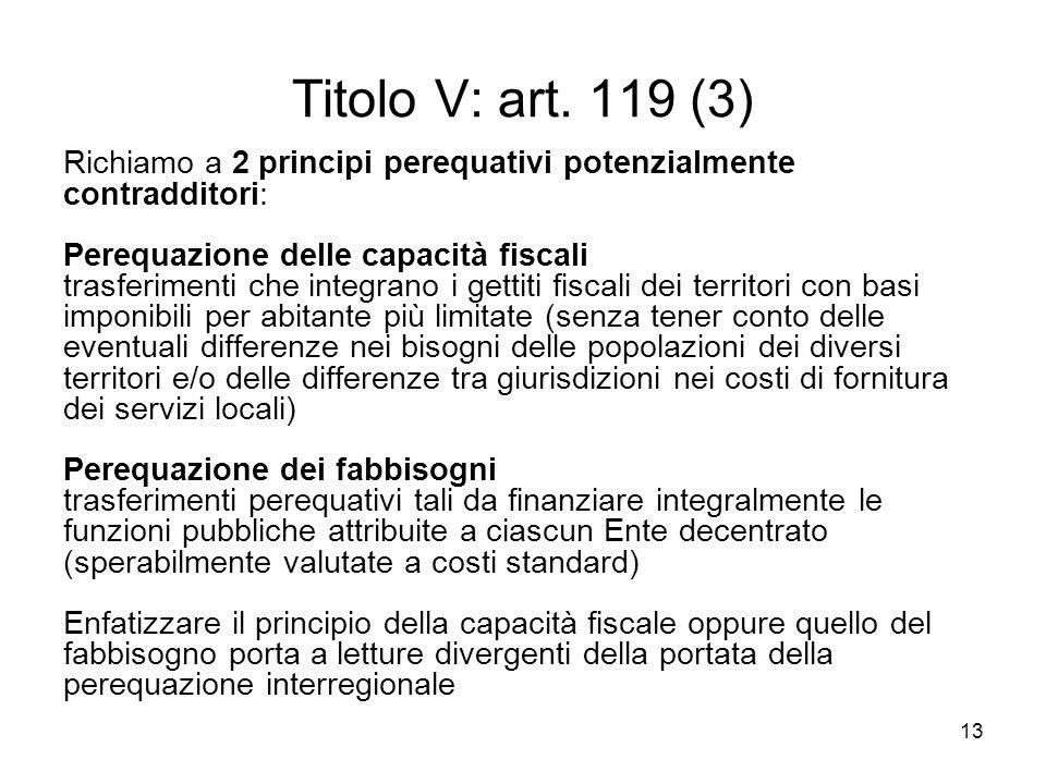 13 Titolo V: art.