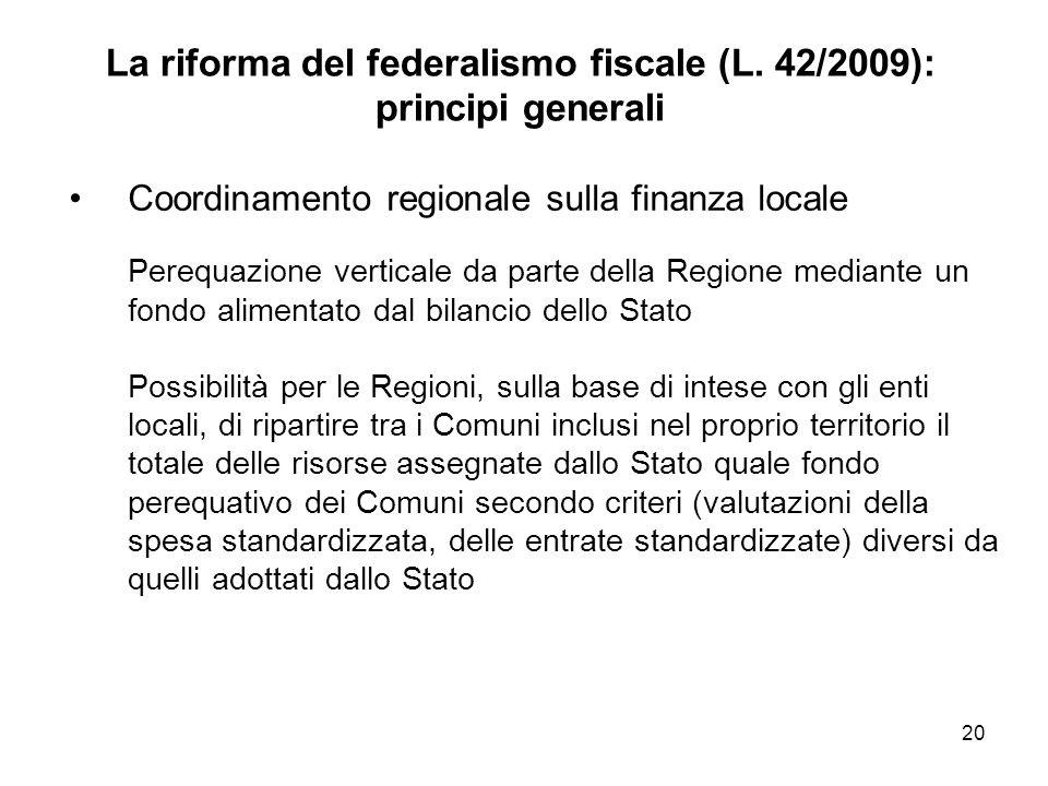 La riforma del federalismo fiscale (L.