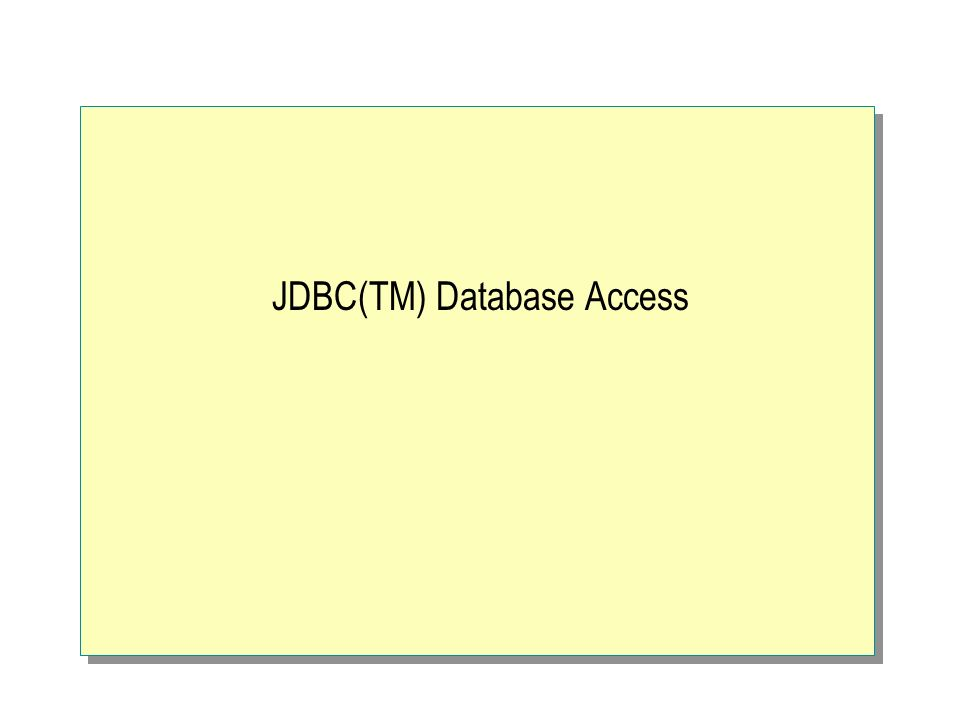 Introduzione Nato nel 1996 1998 JDBC2 (cursori scorrevoli, supporto tipi SQL avanzati) JDBC3 in fase di rilascio JDBC e ODBC si basano sulla stessa idea: comunicare con il gestore dei driver che usa i driver registrati per comunicare con il DB Elenco driver: http://industry.java.sun.com/products/jdbc/drivers http://industry.java.sun.com/products/jdbc/drivers