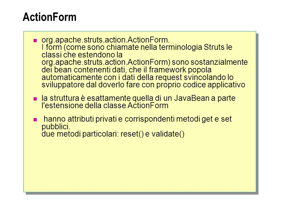 ActionForm org.apache.struts.action.ActionForm.