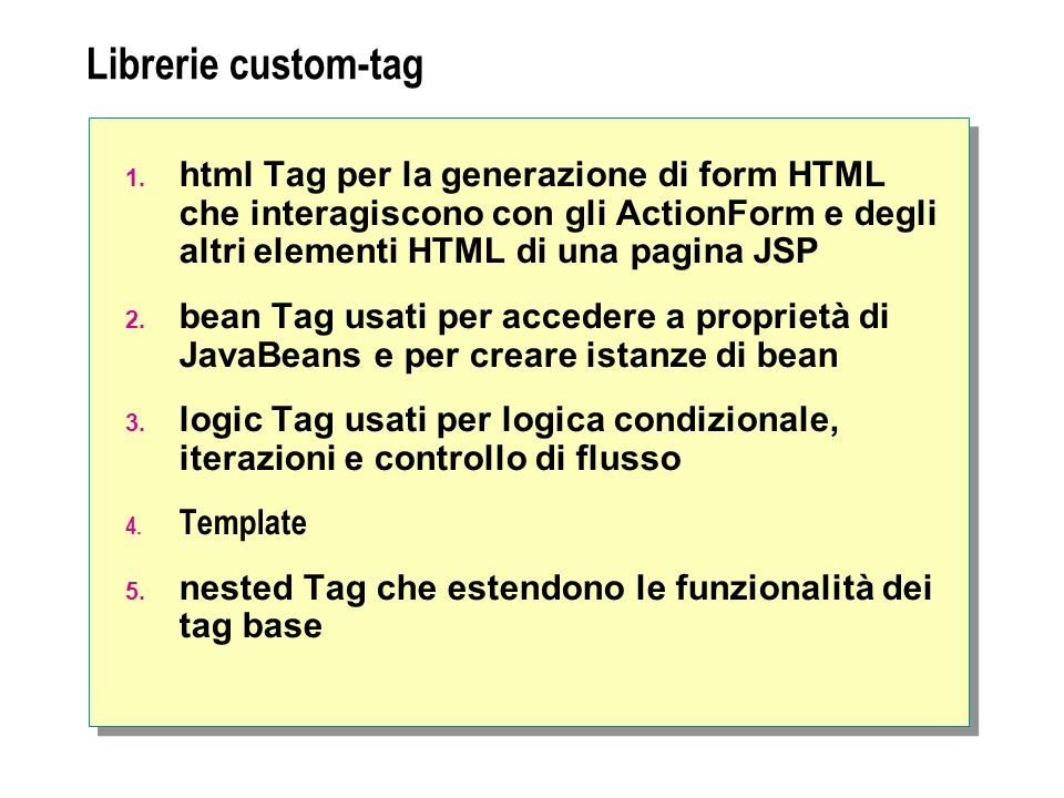 Librerie custom-tag 1.
