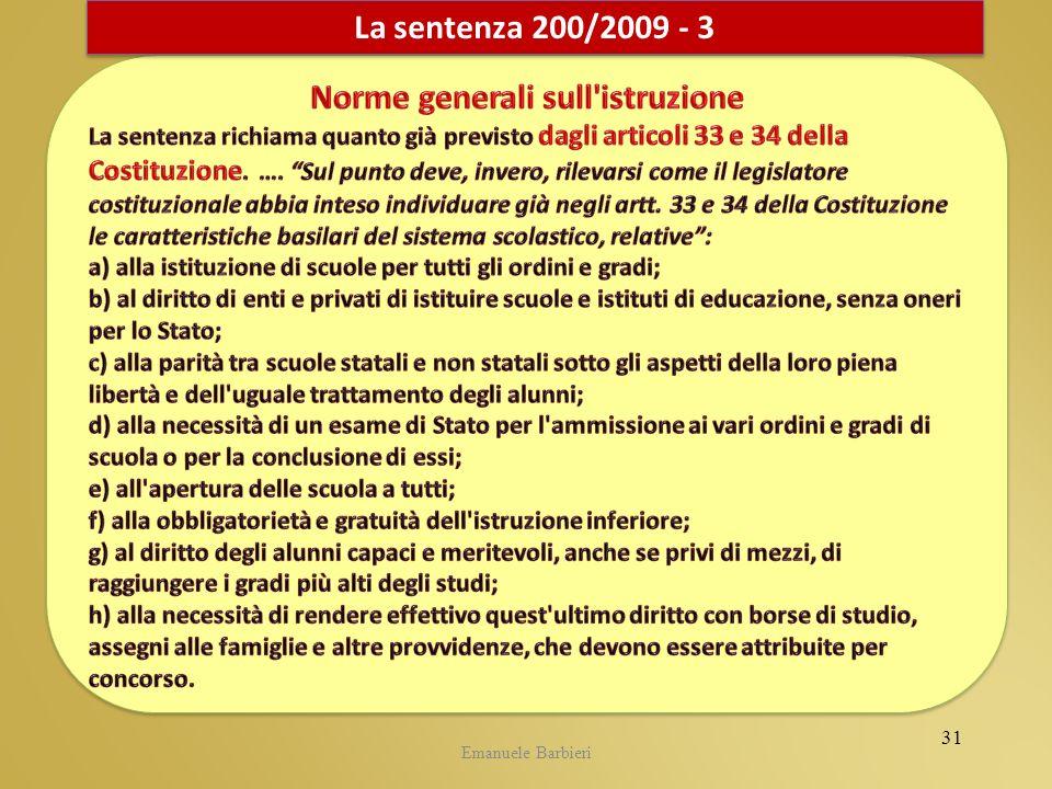 Emanuele Barbieri La sentenza 200/2009 - 3 31