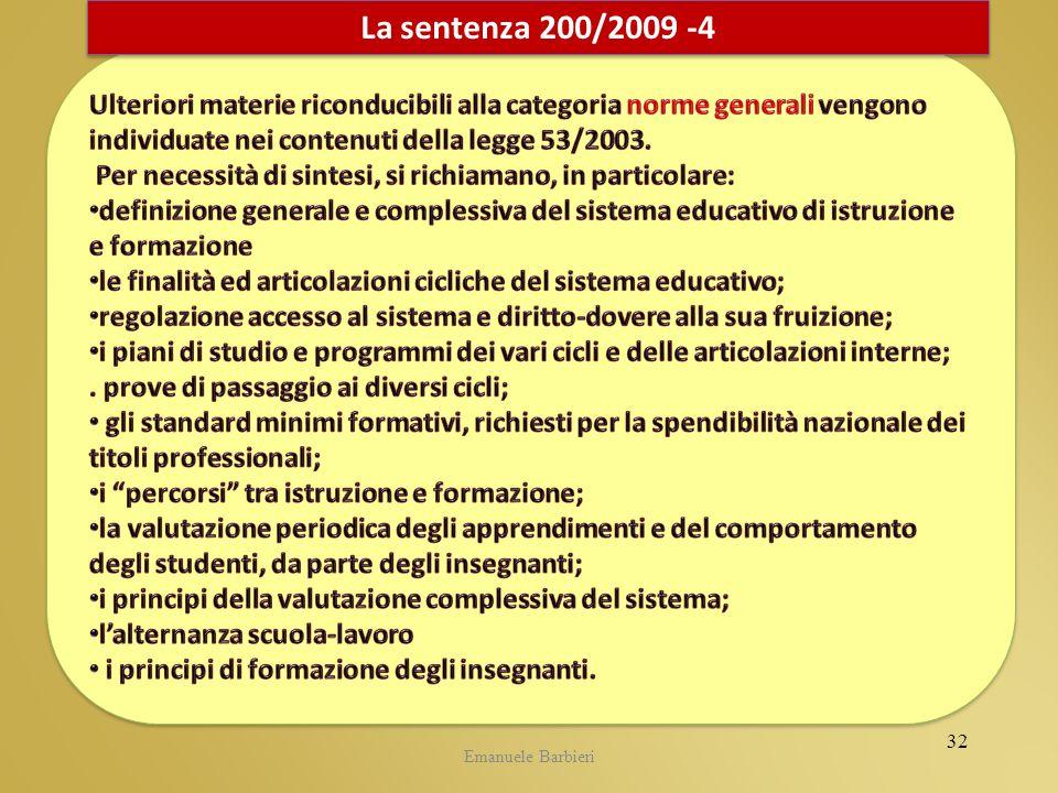 Emanuele Barbieri La sentenza 200/2009 -4 32