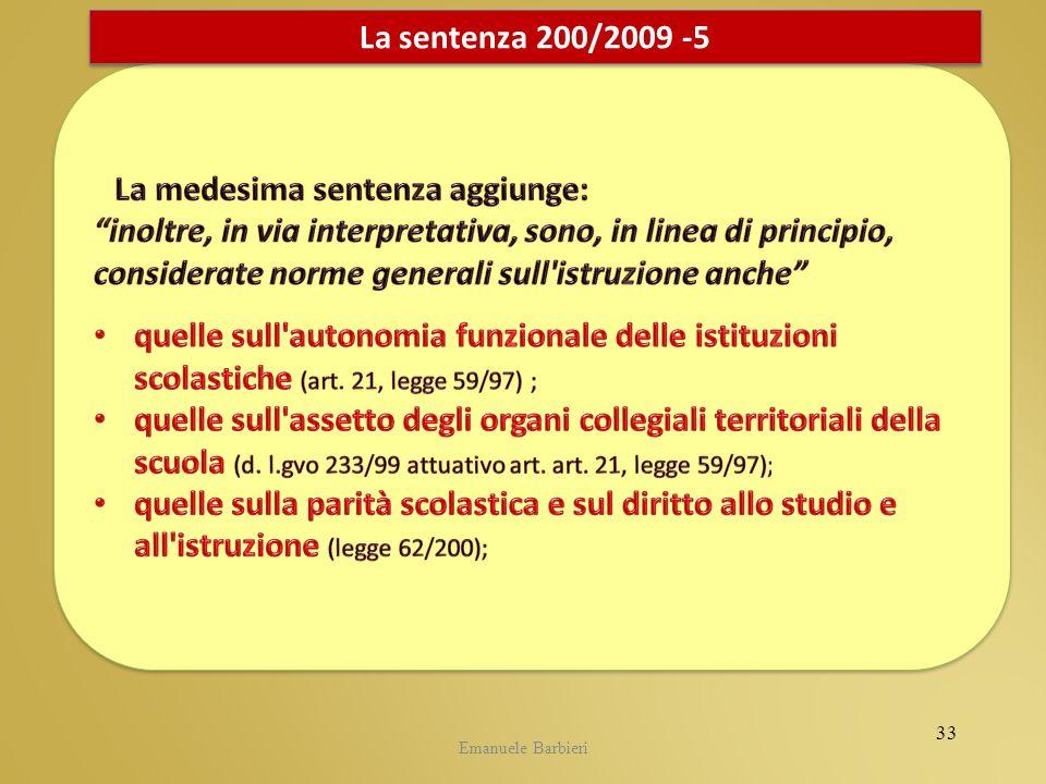 Emanuele Barbieri La sentenza 200/2009 -5 33