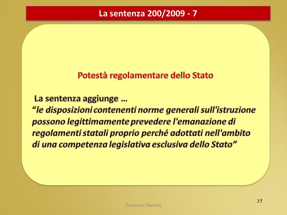 Emanuele Barbieri La sentenza 200/2009 - 7 35