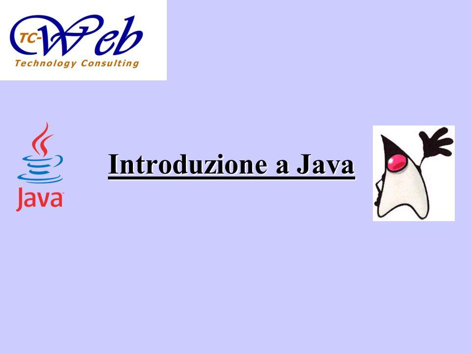 Argomenti Cenni di storia di Java Perché Java.